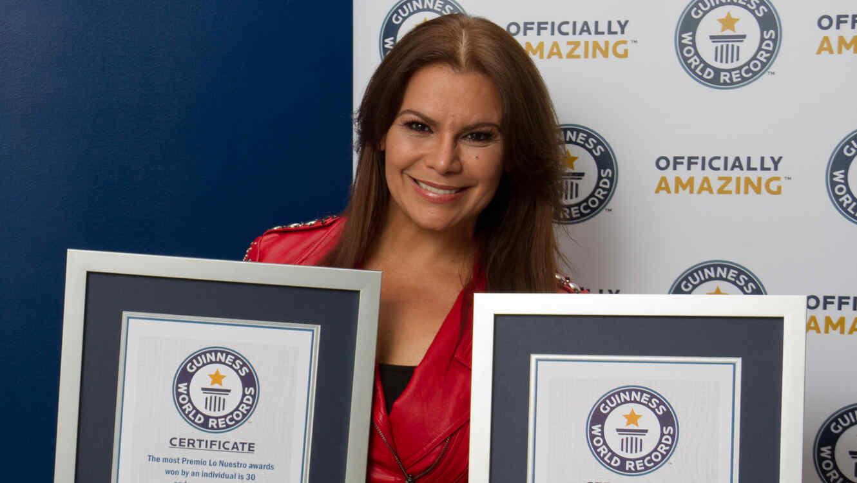 Olga Tañon con dos récords Guinness 2017