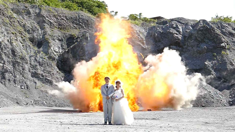 Explosión en foto de boda