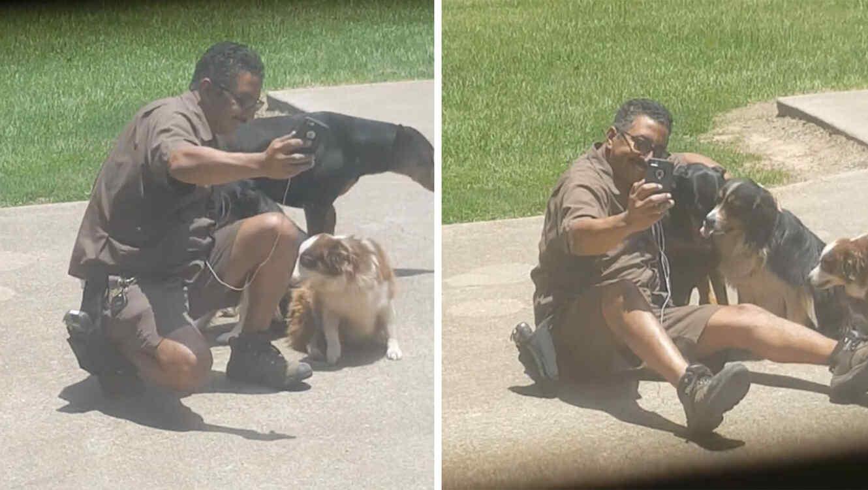 Repartidor de UPS amante de los perros.
