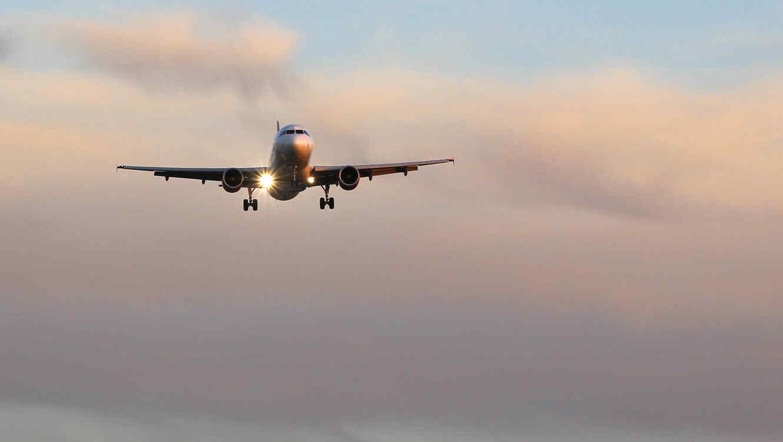 Un avión Boeing 737 vuelva por las alturas.