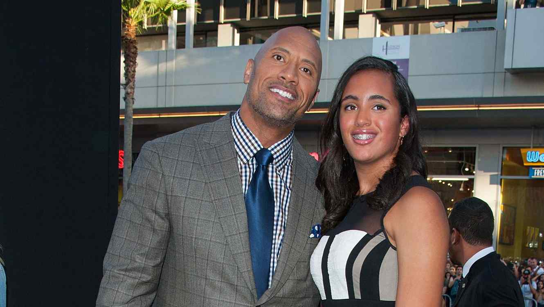 Dwayne Johnson y su hija Simone
