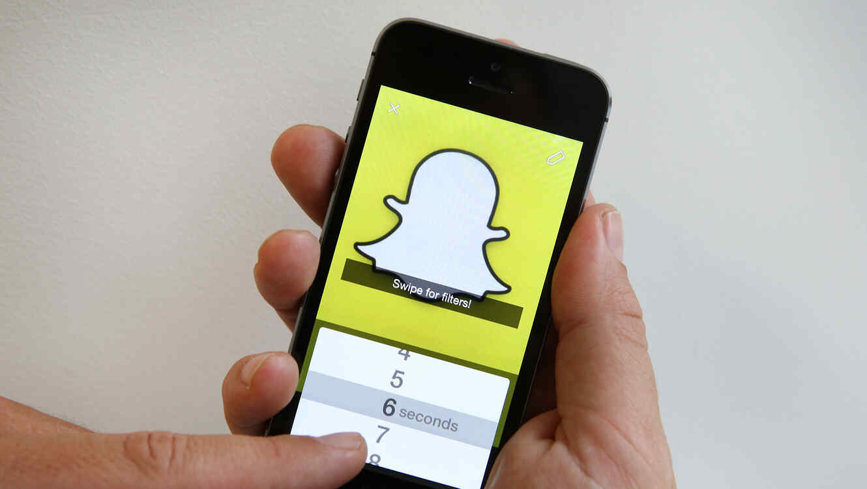 Snapchat en un smartphone