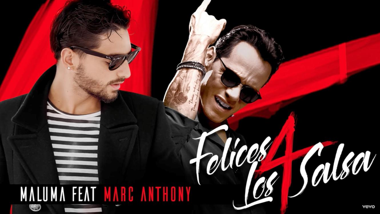 Promocional de Maluma y Marc Anthony de Felices los 4