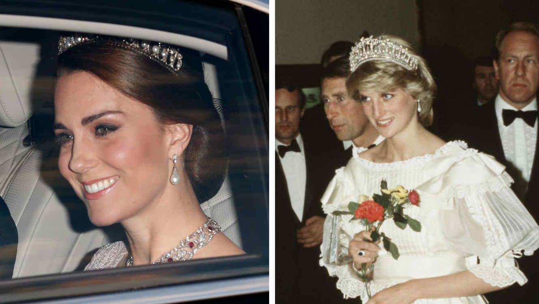 Collage princesa Diana y Kate Middleton