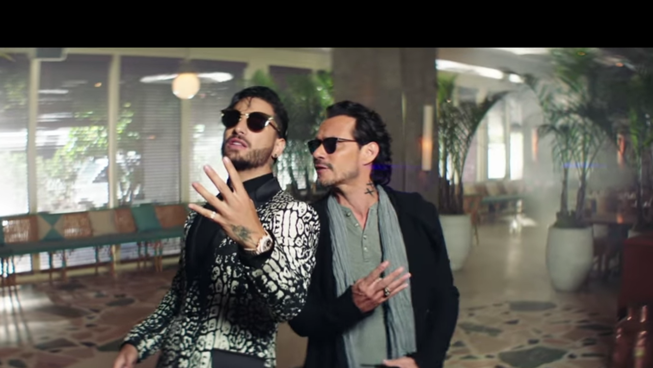 "Maluma y Marc Anthony lanzan video ""Felices los 4"" versión salsa."