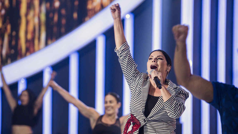 Olga Tañón en los ensayos de Premios Tu Mundo 2017