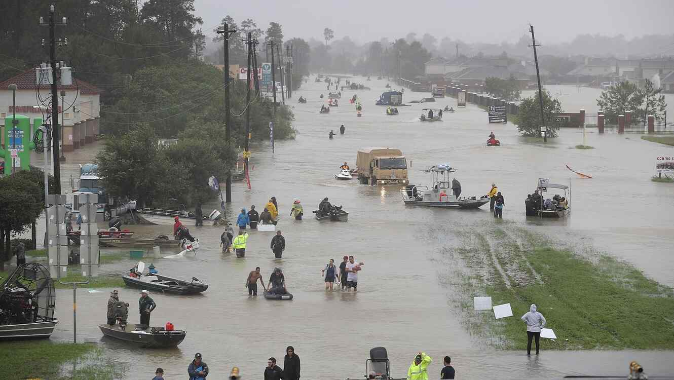 Houston inundada por el huracán Harvey