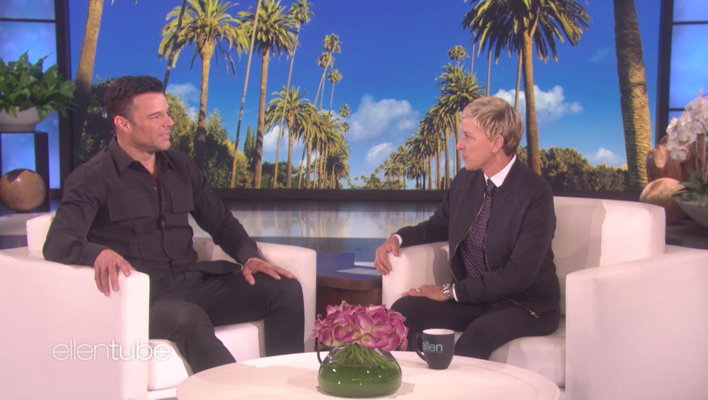 Ricky Martin en el show de Ellen