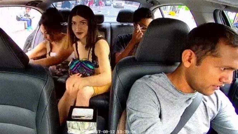 Pasajera de Uber roba a conductor #VIDEO