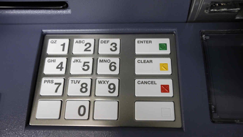 El teclado de un ATM, en una imagen de archivo.