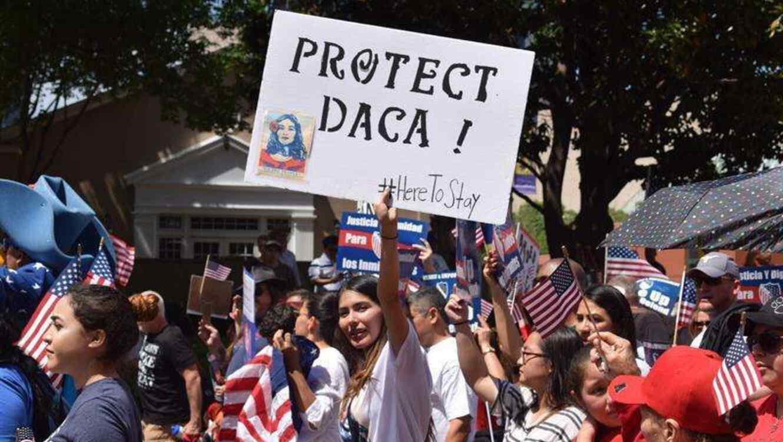"""Los """"Dreamers"""" realizan movilizaciones para pedir que mantenga DACA."""