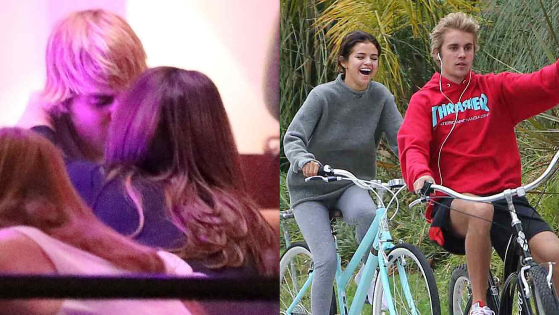 Selena gomez and justin bieber having a little fun