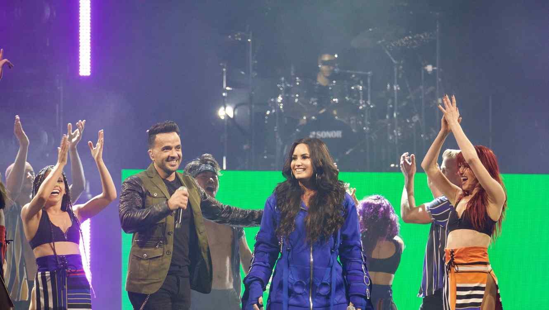 Luis Fonsi and Demi Lovato in Miami