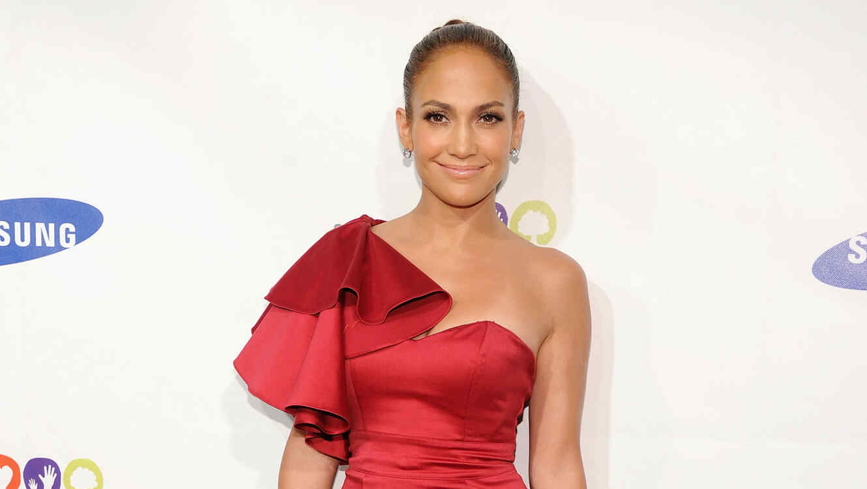 Encendió Vestido Las Este Redes Rojofoto Jennifer Con Lopez Mini EH92IWD