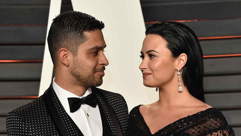 Demi Lovato y Wilmer Valderrama en los Oscars