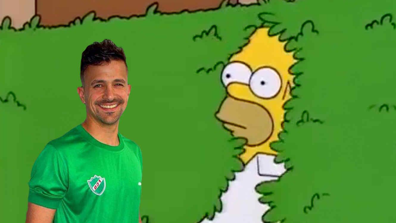 Meme de portero argentino de los Simpson