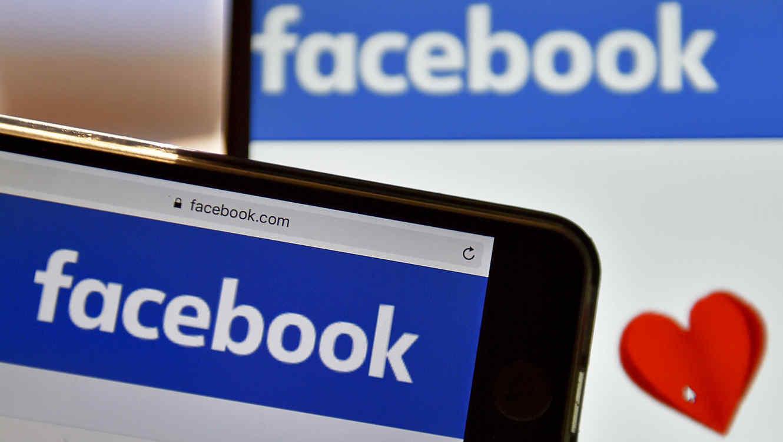 Facebook con un corazón
