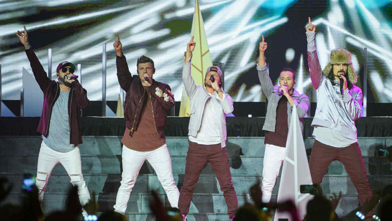Backstreet Boys durante un concierto