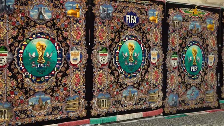 Hermosas alfombras persas inmortalizan el mundial de rusia Alfombras persas en mexico