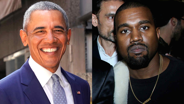 Barack Obama y Kanye West