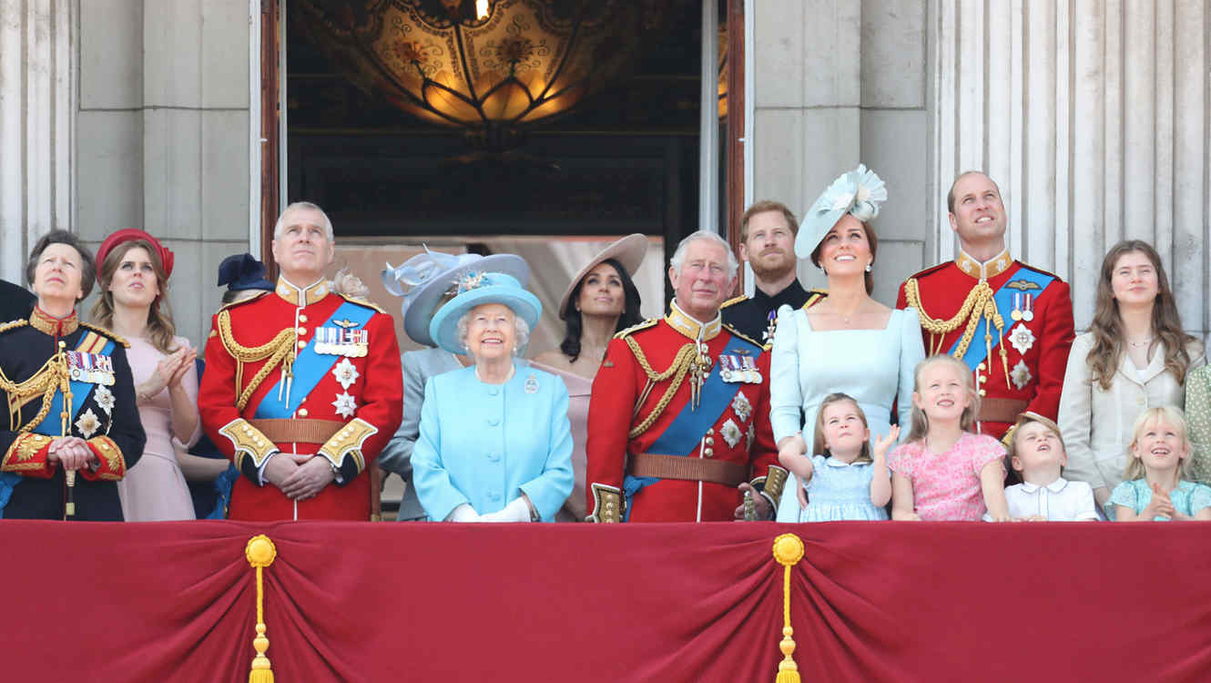 Familia real en el evento Trooping the Colour