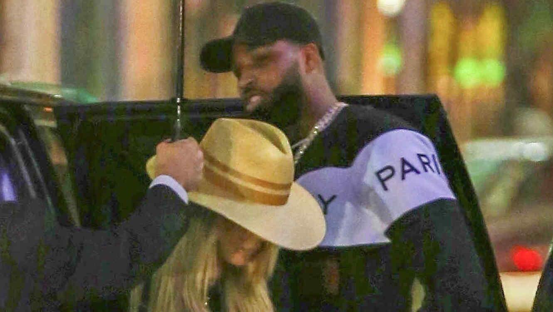 Khloe Kardashian junto a Tristan Thompson tras infidelidad
