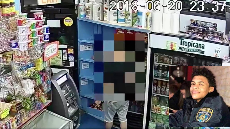 Imágenes de la tienda donde sucedió el asalto, y de Lesandro Guzmán.