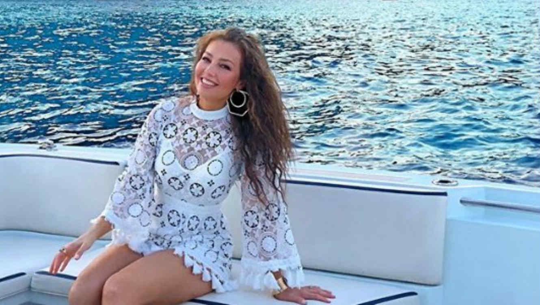 Thalía en sus vacaciones en Italia
