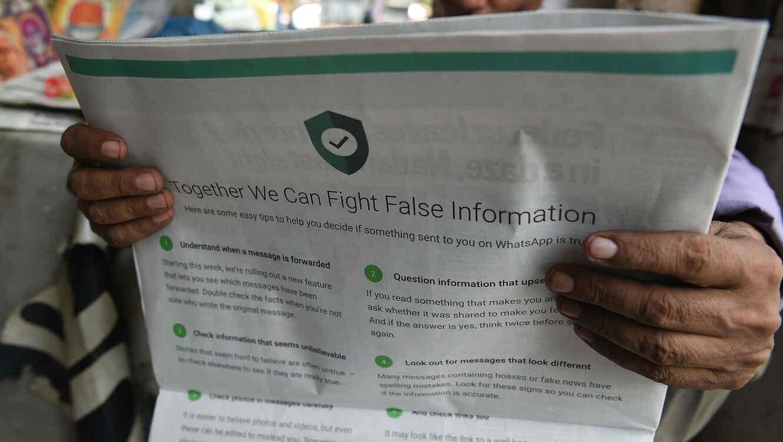 Resultado de imagen para Whatsapp combatirá las noticias falsas