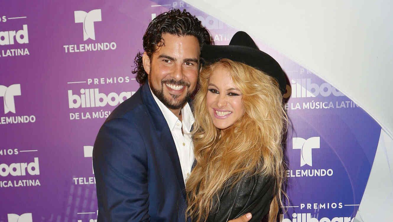 Paulina Rubio y Gerardo Bazúa en Premios Billboard
