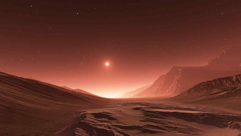 Puesta del sol en Marte
