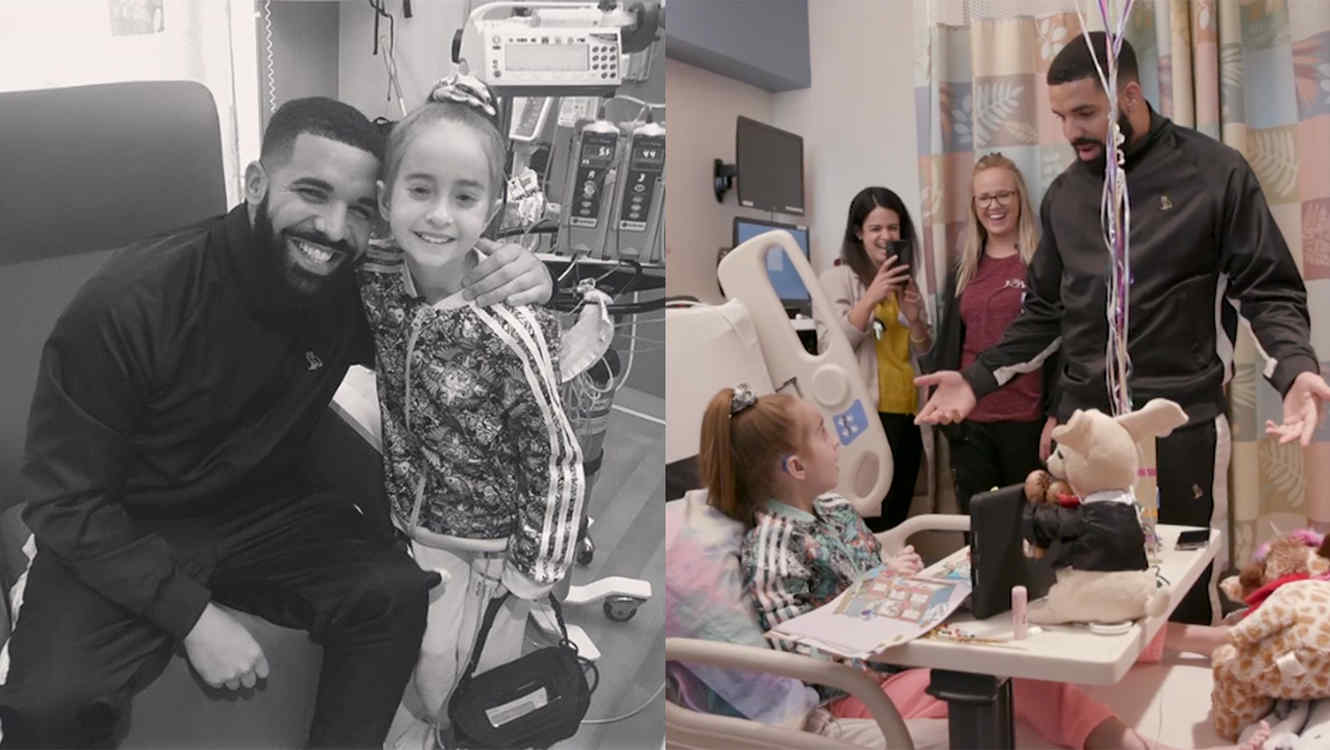 Drake visits fan at hospital