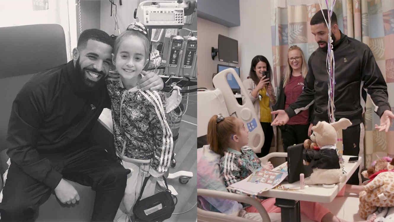 Drake visits fan at hospital