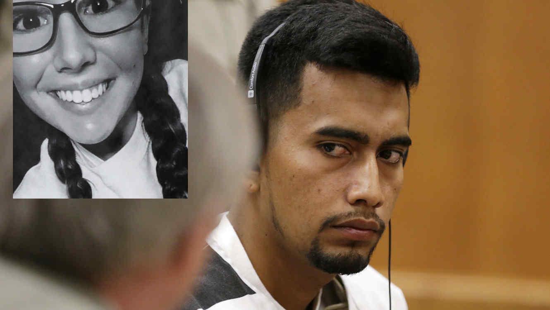 Rivera habla con su abogado en corte este miércoles. A la izquierda, imagen de archivo de Tibbetts.