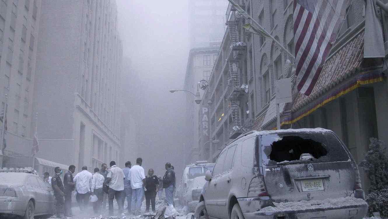 Nueva York, el 11 de septiembre de 2001, en los alrededores del World Trade Center.