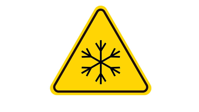 Señal de advertencia de hielo