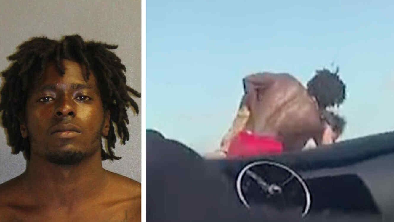 Goodin fue arrestado y acusado por el daño potencial que podría haber causado a Mascaro al tirarlo por un puente.