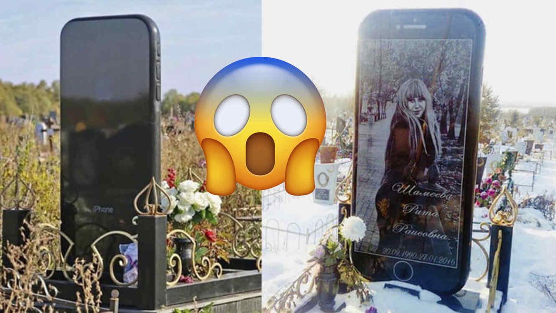 lápida de iPhone