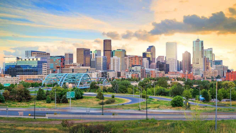 Vista de la ciudad de Denver