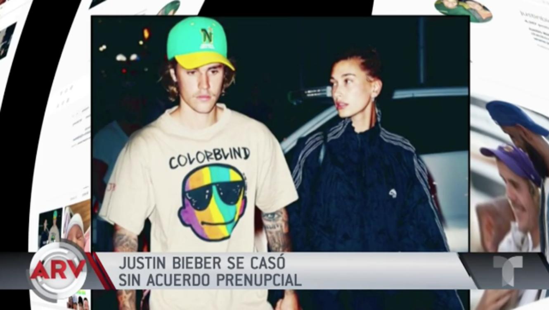Justin Bieber se casó sin acuerdo prenupcial
