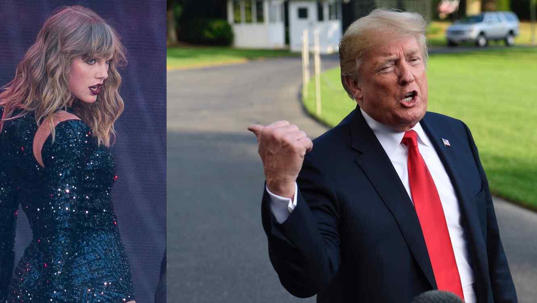 Donald Trump reacciona a publicación de Taylor Swift