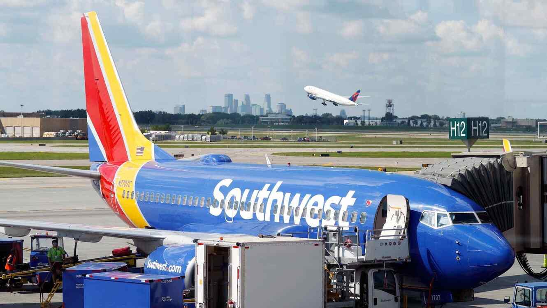 Un avión de Southwest Airlines.