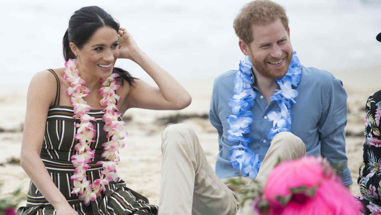 Meghan Markle con el príncipe Harry