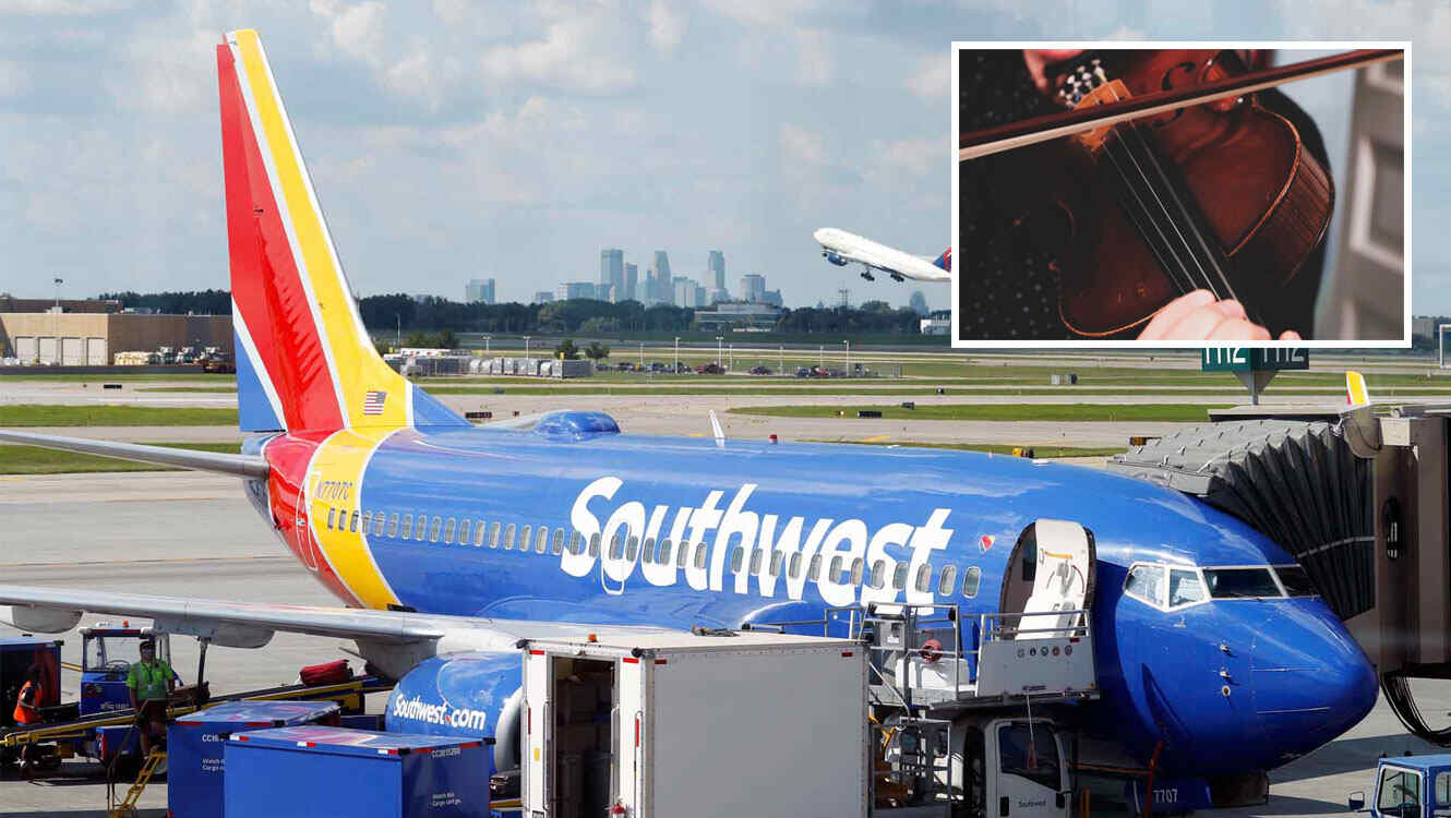 southwest airlines violin