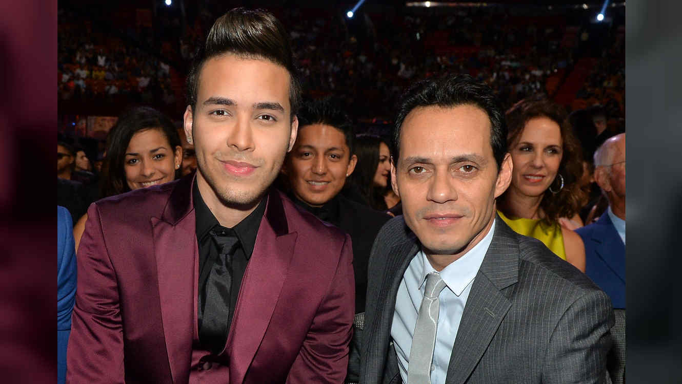 Prince Royce con Marc Anthony en 2014