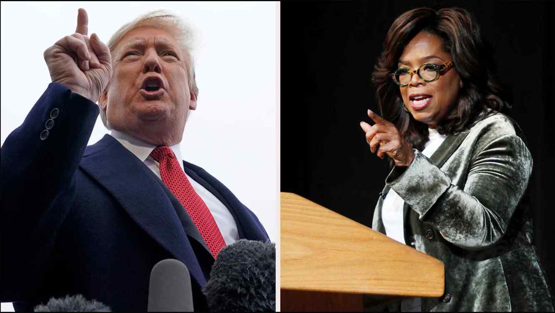 Donald Trump y Oprah Winfrey.
