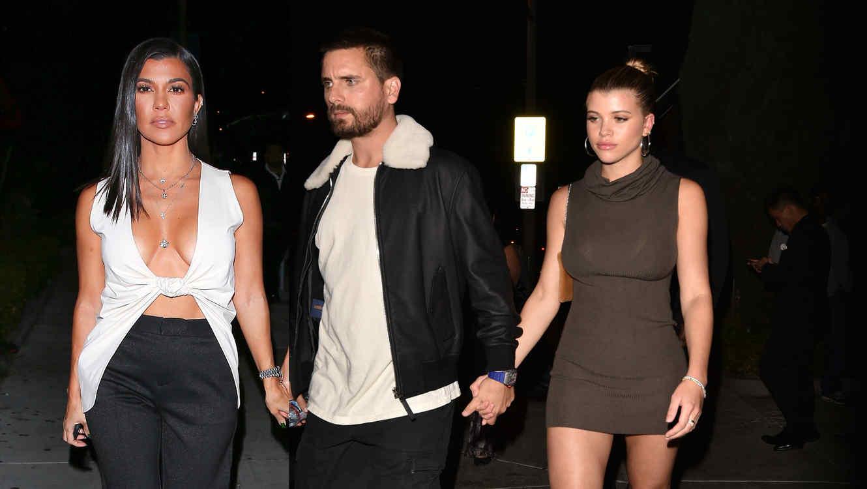 Kourtney Kardashian, Scott Disick y Sofia Richie