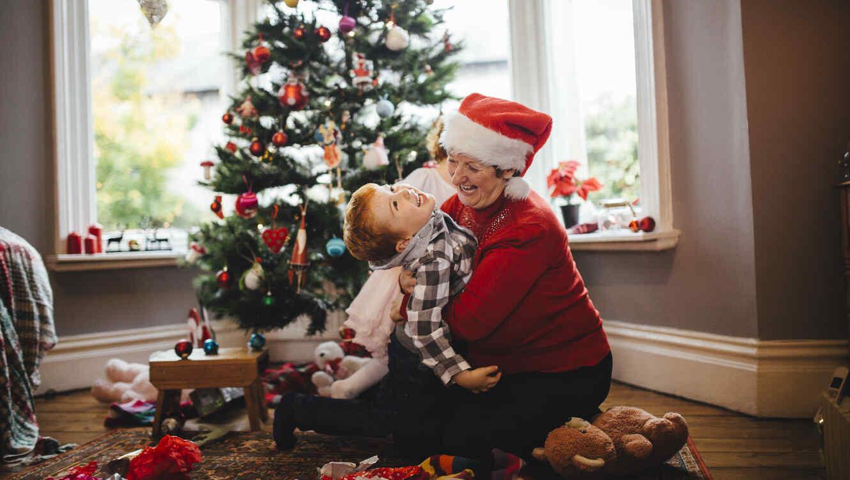 Abrazo navideño