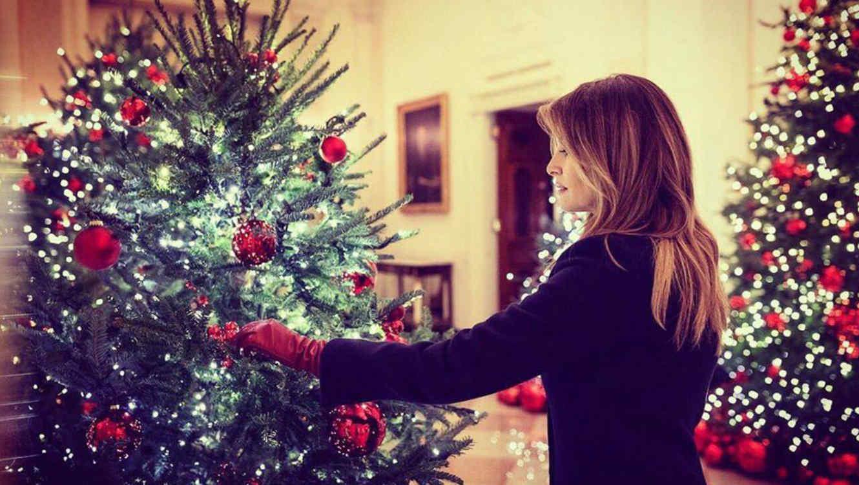 Melania Trump y la decoración navideña en la Casa Blanca