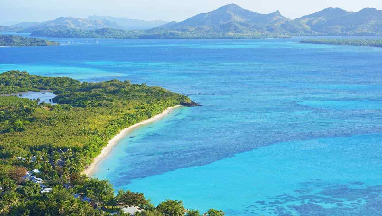 Vista panorámica de las islas Fiji